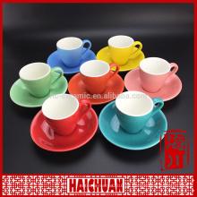 Neuer Entwurfsgelb elegante Teecup und Saucerfabrikgroßverkauf