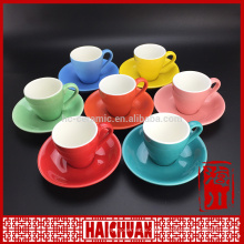 New design yellow elegant tea cup and saucer factory wholesale