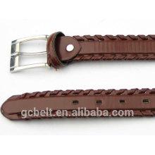 Fashion fancy PU leather belt for man's dress