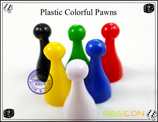 Plastic Colorful Pawns-2