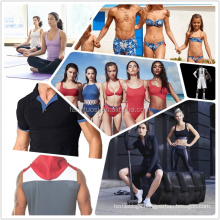 Melange mix color Cationic polyester spandex jersey knitted fabric for yoga leggings t-shirt sportswear