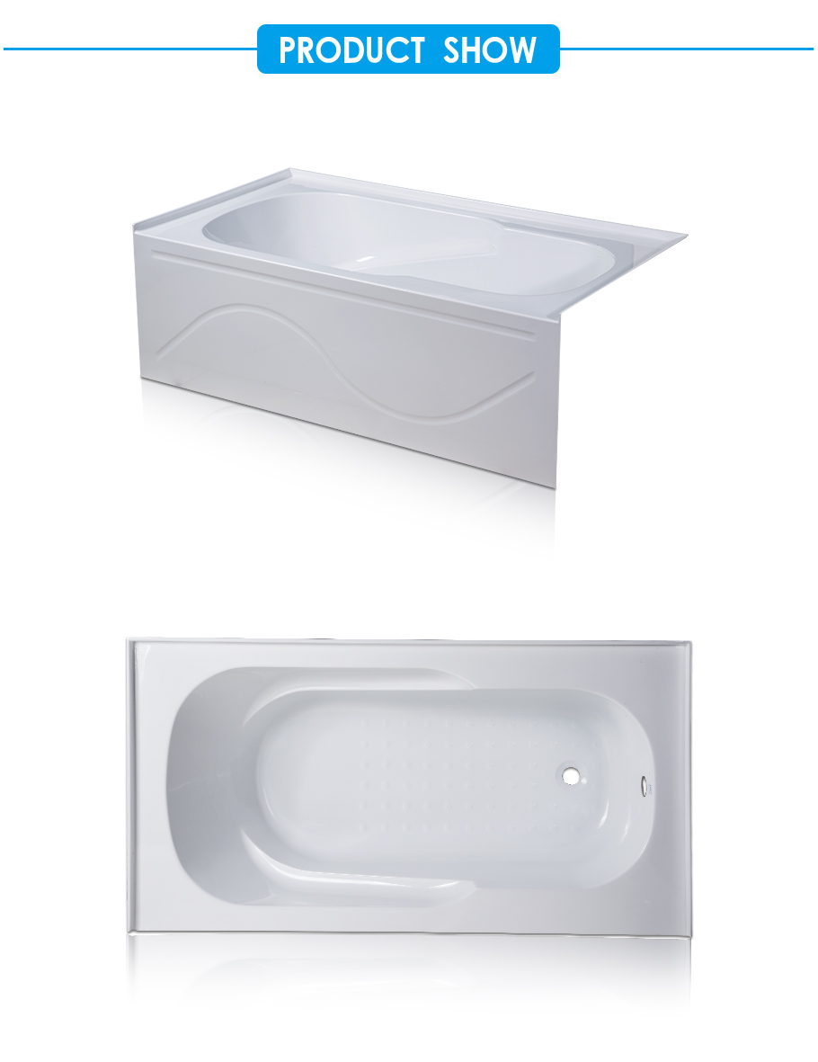 Amber Skirted Bathtub with Integrated Front Apron