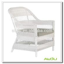 Audu Patio exterior silla de ratán blanco