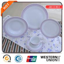 Juego de cena de cerámica redonda
