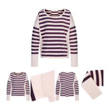 Suéter de cachemira artificial de colores dobles