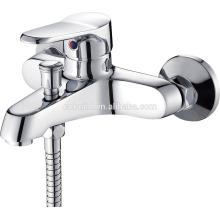 KTM-08 nouvelle arrivée double trou dans le mur solide en cuivre chromé fini salle de douche matériel baignoire baignoire robinet