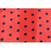 Polyester Spandex Stretch Satin Printed Fabric