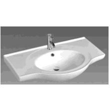 C60 Round Bowl Ceramic Cabinet Basin