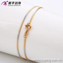 Moda hombre multicolor oro plateado collar (42382)