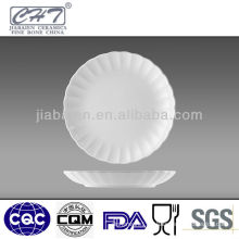 10'' ceramic thin cater plates price with straight line