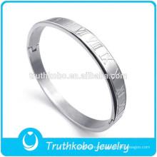 BA0001 Wholesale Bangle Bracelet - Jewelry Stainless Steel Men's Bracelets Silver Bangles Roman bracelet