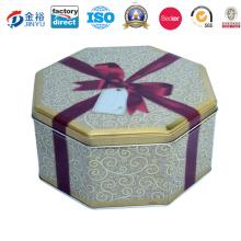 Metal Round Biscuit Cookie Food Box Tin Packaging Jy-Wd-2016012505