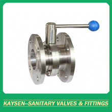 Hygienic Flanged Butterfly Valves Manual Operation
