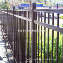 Security backyard metal steel picket fencing / outdoor steel fence for houses