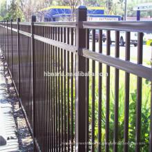 Cerca de aço do piquete de aço do metal do quintal da segurança / cerca de aço exterior para casas
