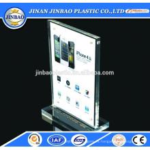 placa de identificación de escritorio acrílico utilizar placa de acrílico transparente