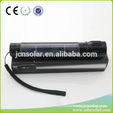 Emergency solar Power Flashlight low price Solar Energy Torch Light with Charger Slot