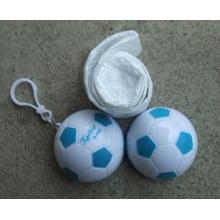 Poncho de lluvia de PE en el fútbol