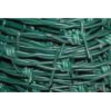 Alambre Barebd de PVC galvanizado. Puede Custermed alambre de púas