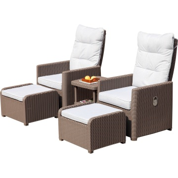 4PCS Patio Sofa Set / Garden Wicker Rattan Set
