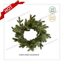 20′′ Handmade Custmized Christmas Artificial Wreath for Home Decoration