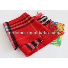 Fashionable black & red striped scarf