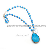 Beautiful Semi Precious Gemstone Beaded Necklace Jewelries available in Wholesale Price