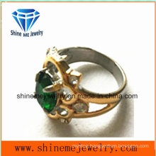Stainless Steel Jewelry Ring Stone Ring (SCR2895)