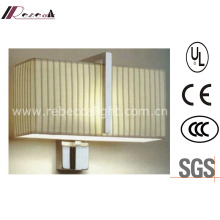 Hotel Decorative Satin Nickel Wall Light with Fabric Shade