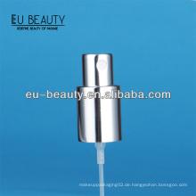 Luxe glänzende silberne Parfümpumpe Spray für Glasflasche