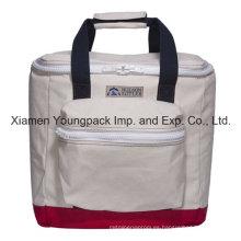 De lujo de alta calidad de algodón personalizado Canvas aislados Cooler Bag