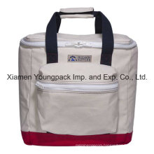 Deluxe High Quality Custom Cotton Canvas Insulated Cooler Bag