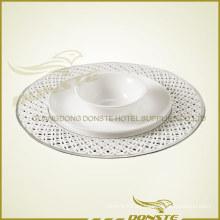 Placas de cerámica teñidas Plato de platino Combinación de mesa