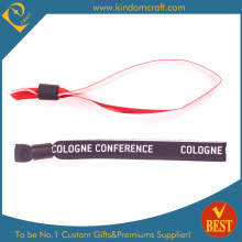 Fashion Custom Fibre Wristbands for Gift with Metal Bead (W0071)