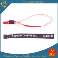 Art und Weise kundenspezifische Faser-Armbänder für Geschenk mit Metallperle (W0071)