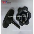 Moldeo por inyección de perillas de nylon plástico popular insertar tuerca