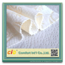 210cm largura 100% poliéster tecido de colchão de malha