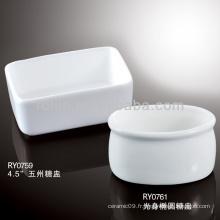 Pot de sucre de porcelaine