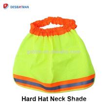 Bouclier de soleil de casque d'ombre de cou de sécurité avec les bandes réfléchissantes, bouclier de cou pour les chapeaux durs pleins de bord HI VIZ orange jaune