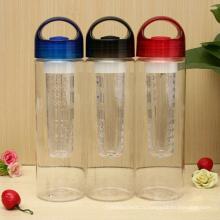 Bouteille d'eau infuseur Tritan de 700 ml, bouteille d'infuseur de fruits à eau Tritan