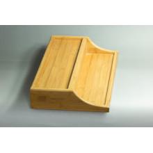 Boîte de présentation en bambou personnalisée
