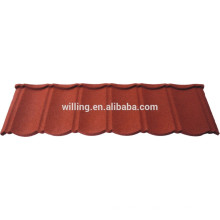 stone coated roof tile/red color metal roof tile/sheet metal building materials