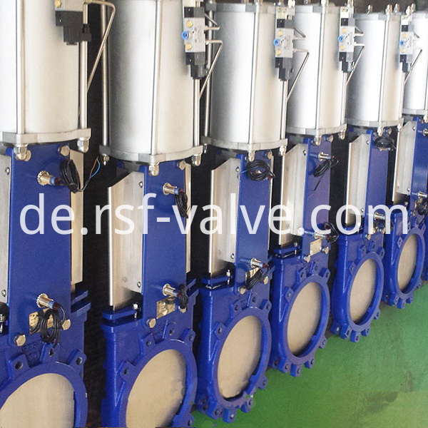 Pneumatic Actuated Knife Gate Valve 2