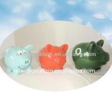 Color Glazed Ceramic Piggy Bank For BS11923 Bigger One