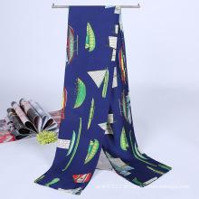 Lady Moda Impresso Cetim De Seda Mágica Mutifunctional Cravat Scarf (YKY1091-11)