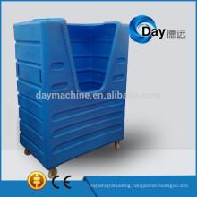 HM-3 PE plastic heavy duty trolley cage, best sale linen trolley cage, STOCK laundry cart