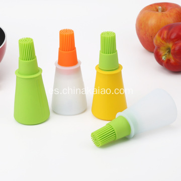 Con aceite Holder Dispenser Silicone Brush Basting Tool