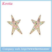 Custom Star серьги стержня верхней дизайн серьги ювелирные изделия причудливый дизайн золота серьги
