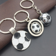 Футбол образный металлический брелок с Открывалкой