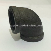 Malleable Iron Pipe Fitting Banded Black Elbow